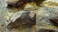 Close-up of crystal clear sea and the rocky bottom. Stock Footage