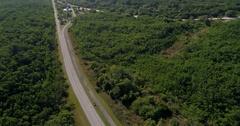 Aerial flyover Oleta State Park Miami Florida Stock Footage