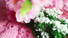 Hobby and lifestyle: Crochet, making artificial flowers and decor, and music Stock Footage