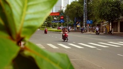 NHA TRANG, VIETNAM - NOVEMBER, 15, 2016: Road traffic in downtown. Stock Footage