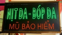 LED advertising. Restaurant. Stock Footage