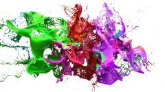 Liquid ink colourful eplosion. 3d illustration Stock Illustration