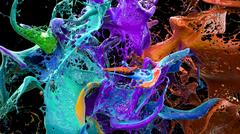 Liquid explosion on black 3d illustration Stock Illustration