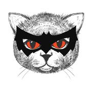 Cute cat illustration Stock Illustration