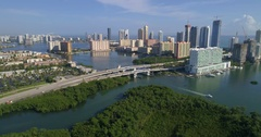 Sunny Isles Florida aerial video Stock Footage