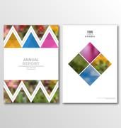 Leaflet Brochure Flyer Template A4 Size Design, Annual Report Book Design Stock Illustration