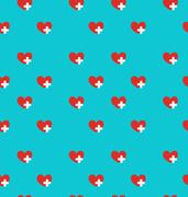 Seamless Pattern with Medical Symbol, Health Care Background Stock Illustration