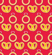 Seamless Wallpaper with Rings for Valentines Day or Wedding Stock Illustration