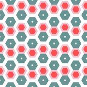 Colorful trendy geometric hexagon seamless background Stock Illustration