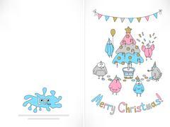 Ready to print Christmas card Stock Illustration