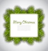 Merry Christmas elegant card with fir branches Piirros