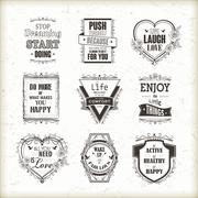 Life motivational and inspirational quotes set Stock Illustration