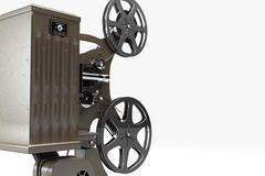 Vintage film projector isolated on white Piirros