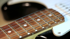 Strings of guitar in close-up Stock Footage