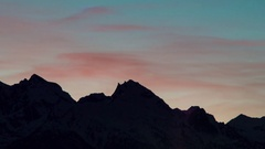 Mountain landscape sunset video, time lapse Stock Footage