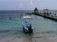 Morelos Port Mexico boat fishing sport pier ocean DCI 4K Stock Footage