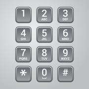 User interface keypad for phone. Vector Stock Illustration