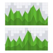 Green Business Diagram Graph Chart. Vector Piirros