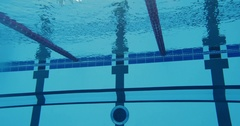 Professional Sports Man In The Swimming Pool Swimming Breaststroke Stock Footage