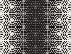 Vector Seamless Black And White Geometric Line Grid Spiderweb Shape Pattern Stock Illustration