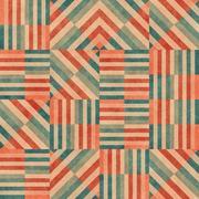 Raster Seamless Diagonal Red Blue Tan Stripe Square Irregular  Blocks Grid Stock Illustration
