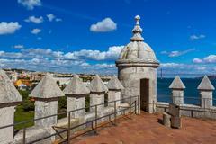 Battlement of Belem Tower - Lisbon Portugal Stock Photos