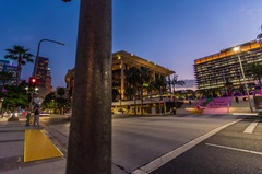 Time-lapse of traffic in downtown Los Angeles on Grand Street Arkistovideo