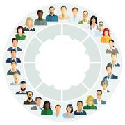 Employee planning, cooperation report Stock Illustration