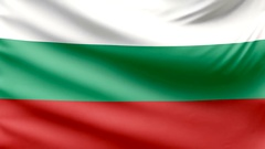 Realistic beautiful Bulgaria flag looping Slow 4k resolution Stock Footage