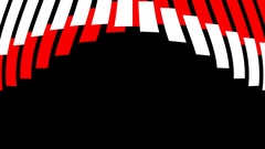Red White Stripes HD Motion Background vj loop Stock Footage
