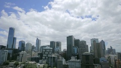 Melbourne Australia skyline cloudscape time lapse Stock Footage