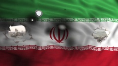 Islamic Republic of Iran war flag Stock Footage