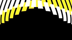White Yellow Lines HD Motion Background vj loop Stock Footage