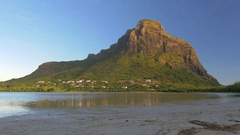 Le Morne Brabant mountain in Mauritius Stock Footage