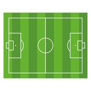Soccer Field. Top View Football Green Stadium. Vector Piirros