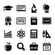 Education Icons Set. Vector Stock Illustration