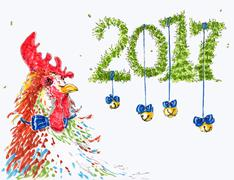 New year congratulation card Stock Illustration
