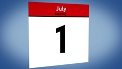 Calendar July days passing Stock Footage