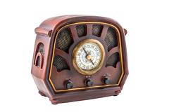 Model of an ancient radio receiver Stock Photos