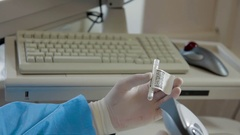 Scanning bio materials. modern medical equipment Stock Footage