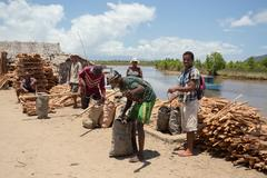 Peoples everyday life in Madagascar Stock Photos