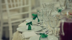 Exquisite banquet with plurality of delicious dishes Stock Footage