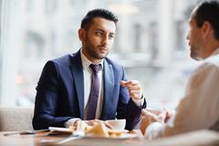 Appointment in cafe Stock Photos