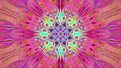 Intricate Burst Pulsing Psychedelic Kaleidoscope VJ Motion Background Loop 2 Stock Footage