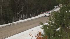 Subaru car at the Rally of the Tall Pines, Bancroft, Ontario, Canada. Stock Footage