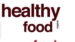 Healthy food animated text word cloud Stock Footage