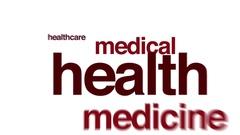 Health treatment animated word cloud. Arkistovideo