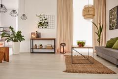 Earth's tones home interior Stock Photos