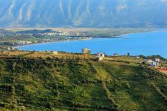 Adriatic sea evening view (Albania). Stock Photos