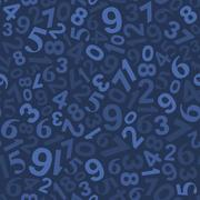 Seamless Background Pattern with Numbers. Vector Stock Illustration
